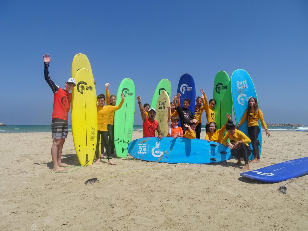 Surf camp for kids in Herzliya