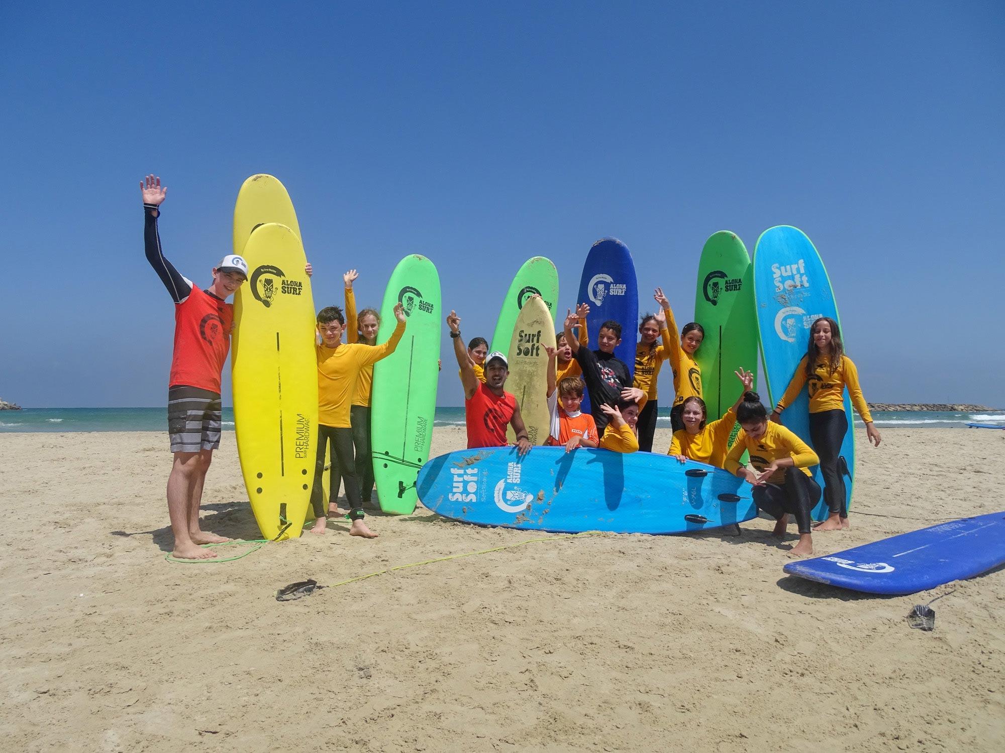 Surf camp for kids in Herzliya