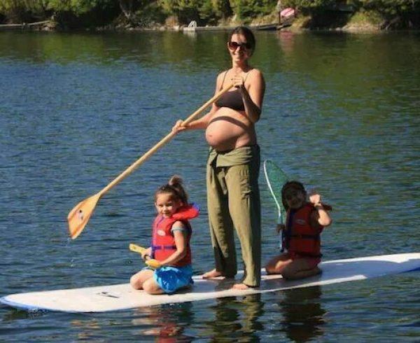 פעילות גופנית על סאפ אחרי לידה